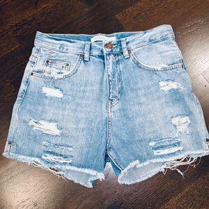 Zara Basic Z1975 Denim Shorts